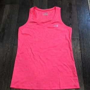 Neon pink Under Armour tank top